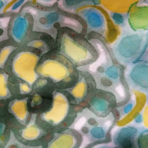 Esserenza Pillows Mandala verde giallo